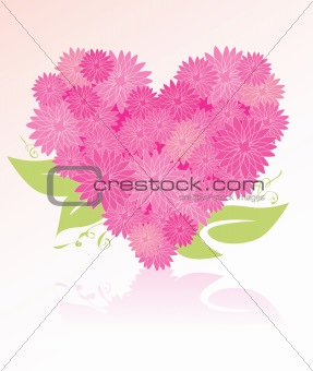 Heart-shaped flower bouquet