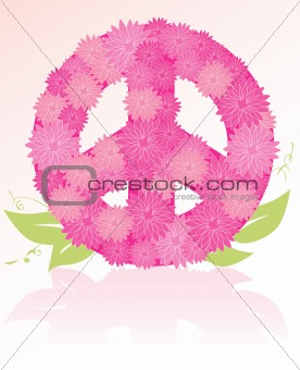 Peace Sign flower bouquet