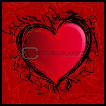 Wild Sketchy Valentine Heart