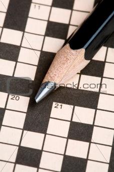 Crossword Puzzle & Pencil