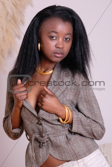 attractive young African girl
