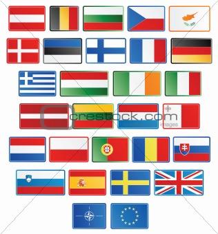 27 EU flag buttons plus NATO and EU