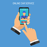 Online Car Services Concept