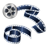 Vector illustration of videotapes and films isolated on a white