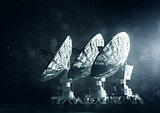 A Group Of Large Radio Telescopes
