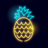 Glowing Neon Pineapple Light Sign