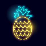 Glowing Neon Pineapple Light Sign