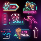 Night Life Neon Light Signs