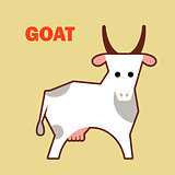 Farm animal goat simple