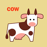 Farm animal cow simple