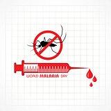 Vector Illustration of World Malaria Day