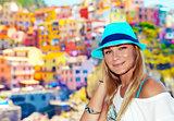 Traveler woman enjoying Italy