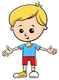 cute little boy cartoon kid character