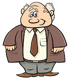 senior man professor cartoon illustration