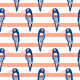 Parrot pattern seamless bird vector.