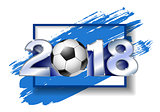 Silver Number 2018 with soccer ball