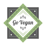 Go Vegan vintage icon