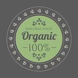 Organic Food vintage icon