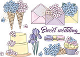 Flower Clipart SWEET WEDDING