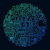 Music Icon Circle Concept