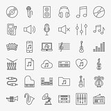 Music Line Icons Set