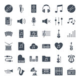 Music Solid Web Icons