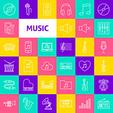 Vector Music Line Icons