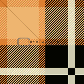 Tartan Seamless Pattern Background. Black and Beige Plaid, Tartan Flannel Shirt Patterns. Trendy Tiles Vector