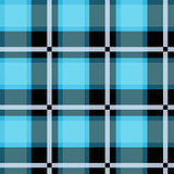 Blue Tartan Plaid Seamless Design. Textured plaid