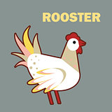 Domestic bird rooster simple
