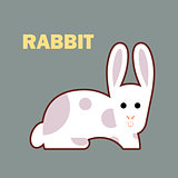 Farm animal rabbit simple