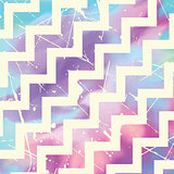 Zig zag pattern on watercolour