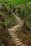 Stairs between rocks