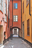 Narrow street of Old Stockholm