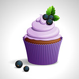 Cupcake with black currant
