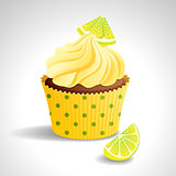 Cupcake with lemon