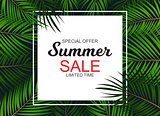 Summer Sale concept. Vector Illustration