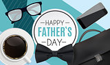 Happy Fathers Day Background. Best Dad Vector Illustration EPS10