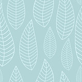Abstract Natural Seamless Background with Leaves. Vector Illustration