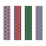 Fancy strap border leaves pattern design tapes.
