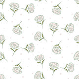 Simple flower pattern vector design.