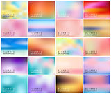 BIG set of 20 horizontal wide blurred nature backgrounds