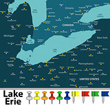 Map of Lake Erie