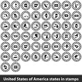 United States of America states in stamps