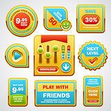 Game user interface elements Vector