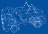 Garbage truck concept. Vector
