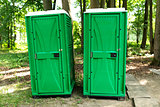 Bio toilet in the park