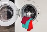 underwear in washing machine