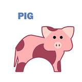 Farm animal pig isolated
