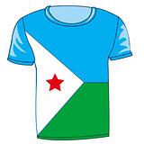 Cloth flag Dzhibuti